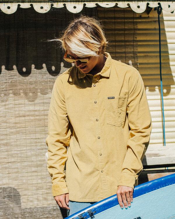 0 Wranlger Bowie Cord Long Sleeve Shirt White 9513205 Billabong