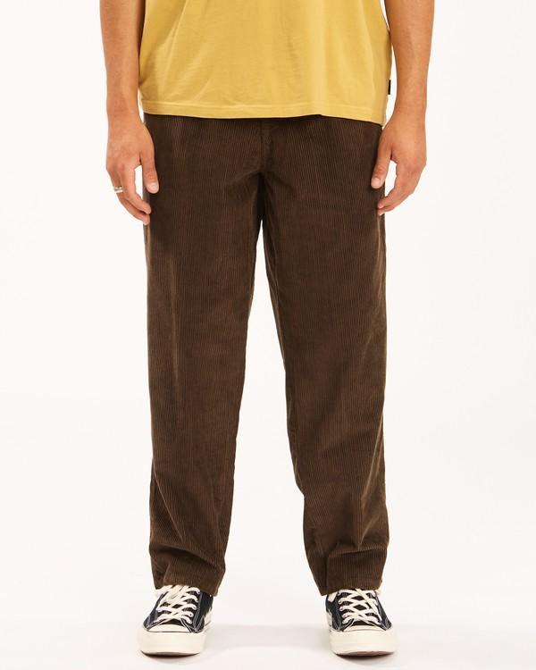 0 Wrangler Bowie Layback Pants Brown 9513302 Billabong