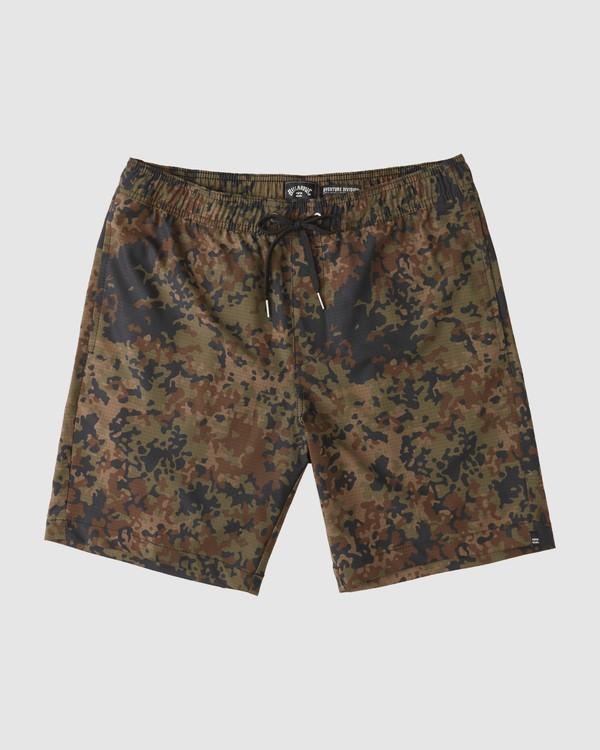0 A/Div Surftrek Elastic Perf Shorts Camo 9513431 Billabong