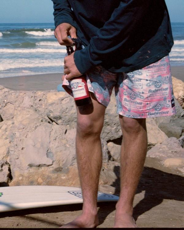 "0 Budweiser Insignia Layback Boardshorts 17"" Red 9513440 Billabong"