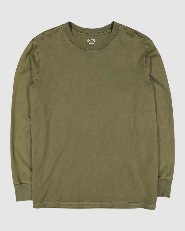 0 Wave Wash Long Sleeve Tee Green 9513601 Billabong
