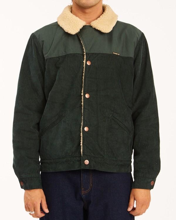 0 Wrangler Range Cord Sherpa Jacket Green 9513904 Billabong