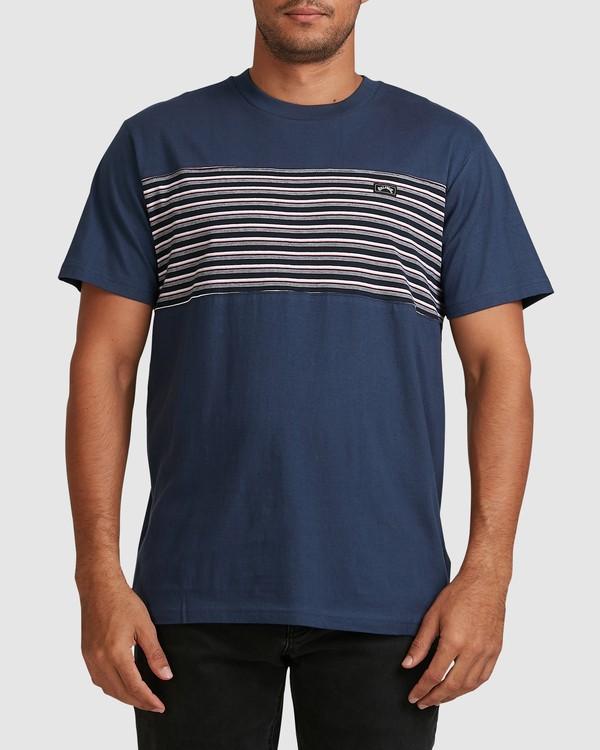 0 Banded Diecut Short Sleeve Tee Blue 9517019 Billabong