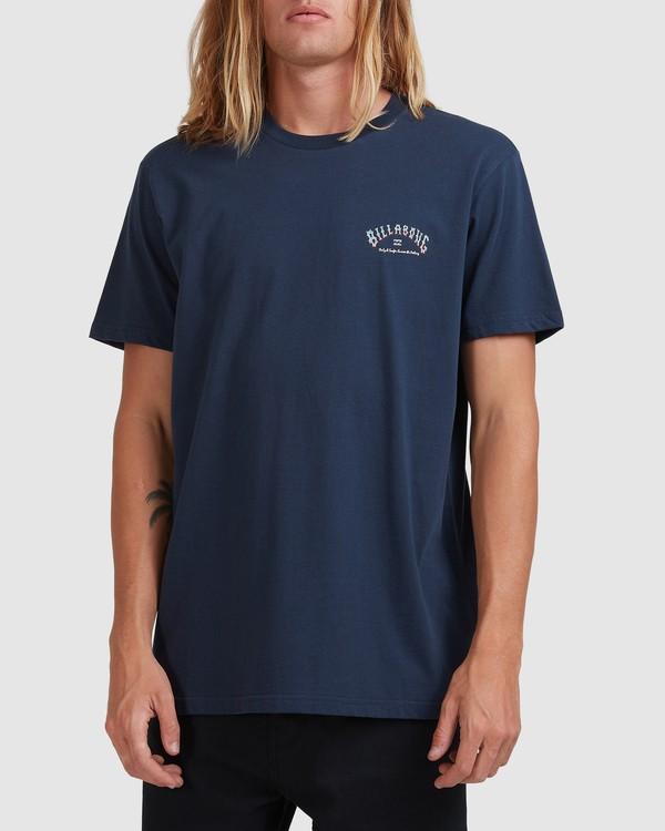 0 Global Arch T-Shirt Blue 9517028 Billabong