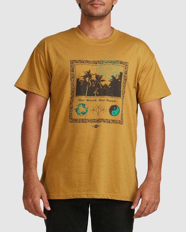 0 Our World Short Sleeve Tee Yellow 9517036 Billabong