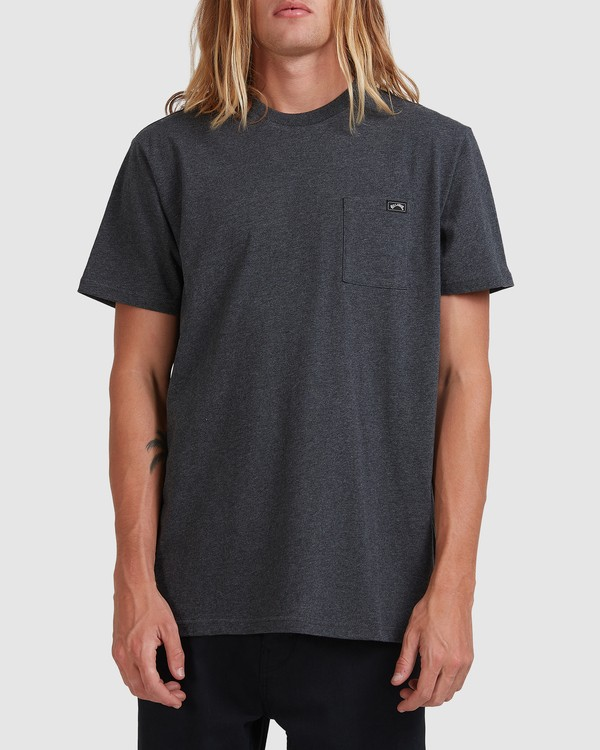 0 Premium Pocket Short Sleeve Tee Grey 9562046 Billabong