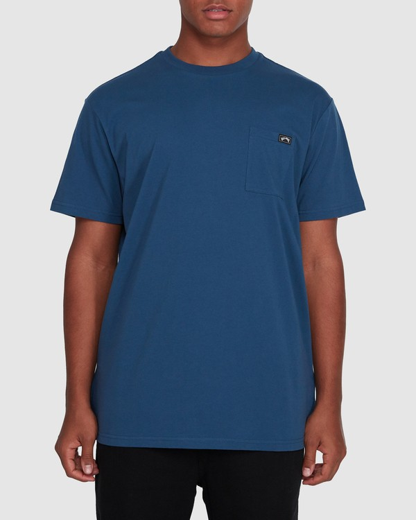 0 Premium Pocket Short Sleeve Tee Blue 9562046 Billabong