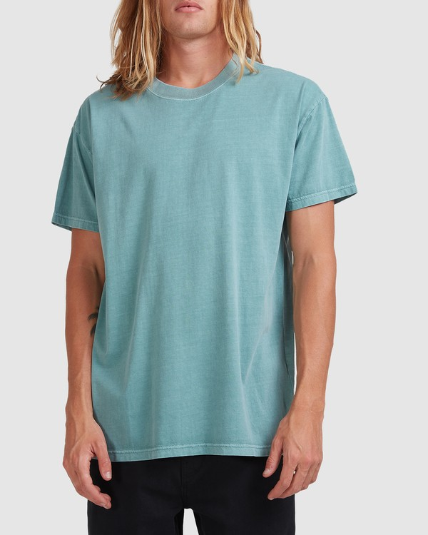 0 Premium Wave Wash Short Sleeve Tee Blue 9572051 Billabong