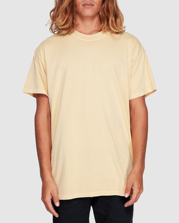 0 Premium Wave Wash Short Sleeve Tee Yellow 9572051 Billabong