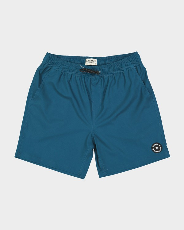 "0 All Day Solid Layback 17"" Boardshort Blue 9581415 Billabong"