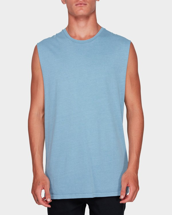 0 Premium Wave Wash Muscle Tank Blue 9582506 Billabong