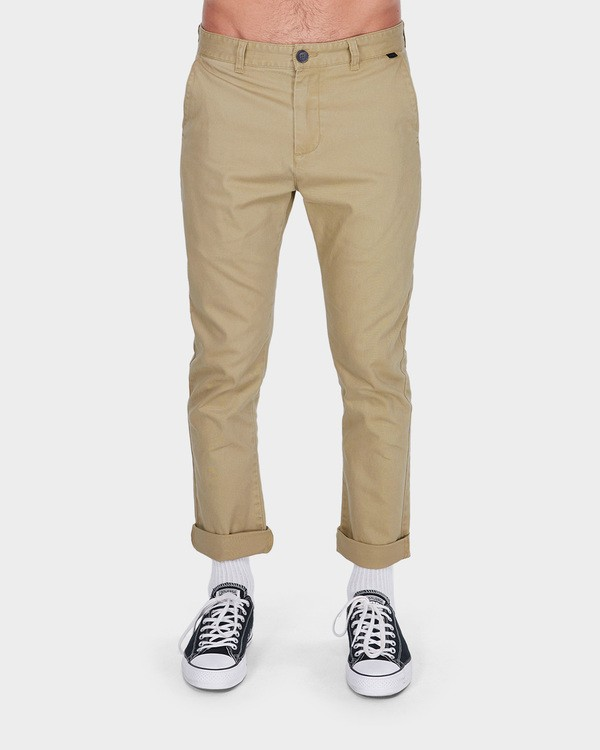 0 NEW ORDER CHINO ROLL UP PANTS Grey 9585303 Billabong