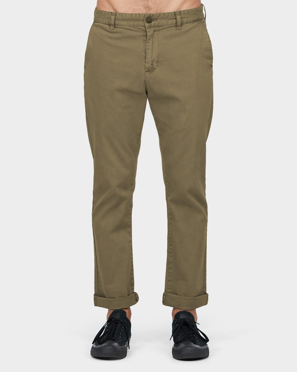 0 New Order Chino Roll Up Pants Green 9585303 Billabong