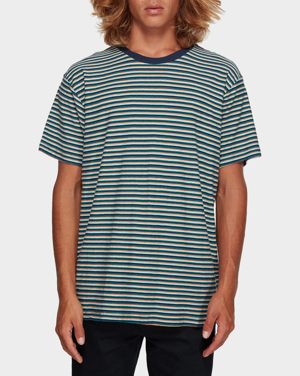 0 Die Cut Stripe Tee Blue 9591003 Billabong