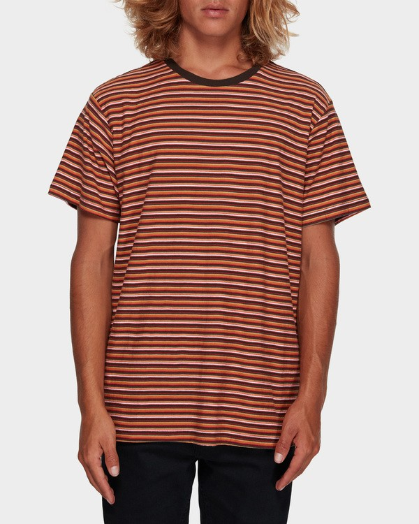 0 DIE CUT STRIPE TEE Orange 9591003 Billabong