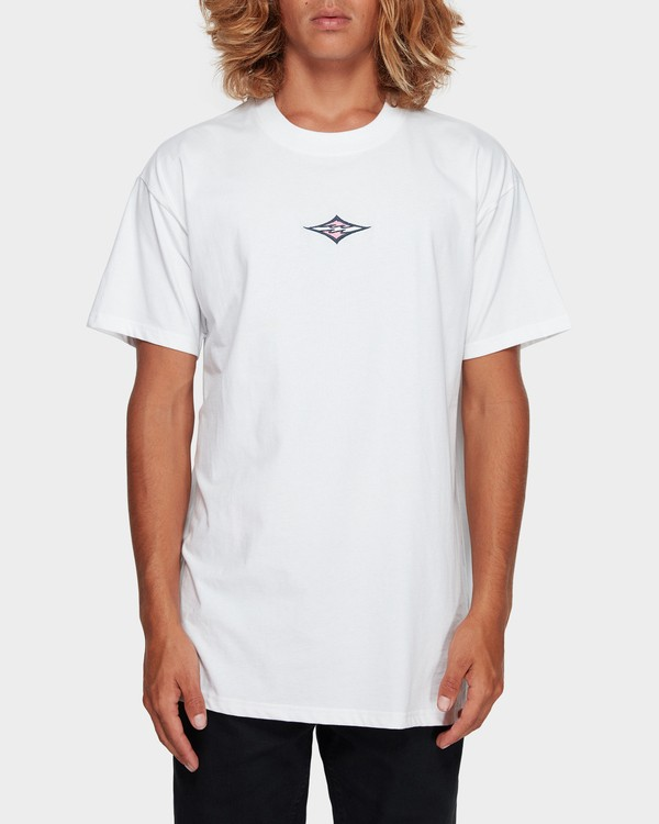 0 CUT DIAMOND EMB TEE White 9591010 Billabong
