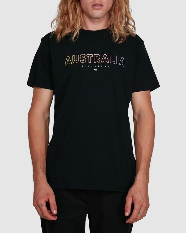 0 Aus Outlined Short Sleeve Tee Black 9591071M Billabong