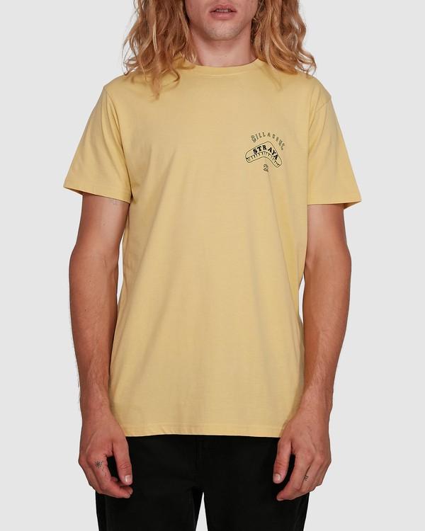 0 Straya Croc Short Sleeve Tee Yellow 9591073M Billabong