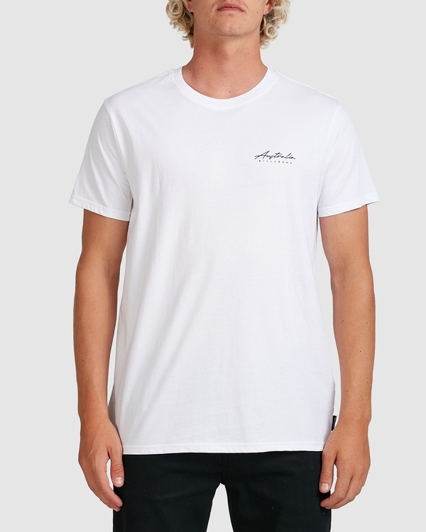 0 Swell Lines Short Sleeve Tee White 9591074M Billabong