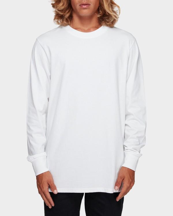 0 Larry Layerer Long Sleeve Tee White 9591174 Billabong