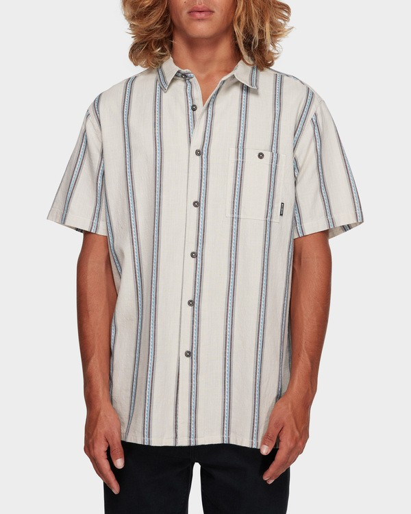 0 SUNDAYS JACQUARD SHORT SLEEVE SHIRT White 9591203 Billabong