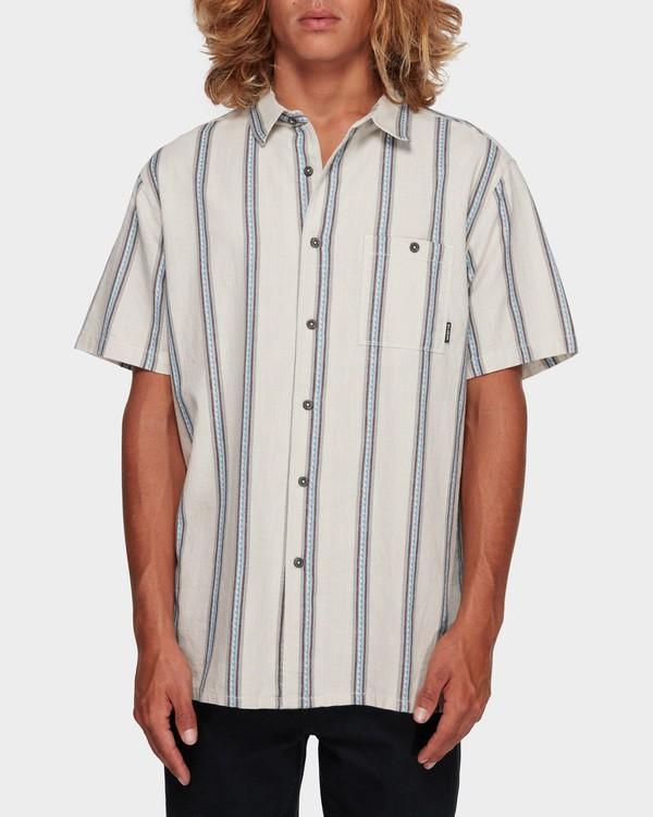 0 Sundays Jacquard Short Sleeve Shirt White 9591203 Billabong
