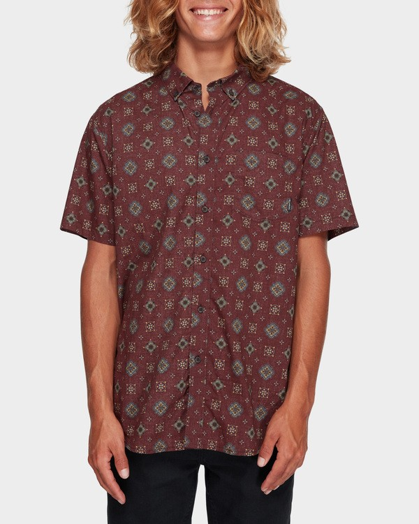 0 Sundays Mini Short Sleeve Shirt Red 9591210 Billabong