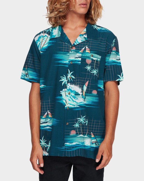 0 VACAY PRINT SHORT SLEEVE SHIRT Blue 9591212 Billabong