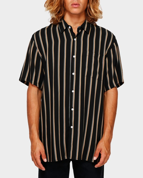 0 Sundays Stripe Shirt Black 9591216 Billabong