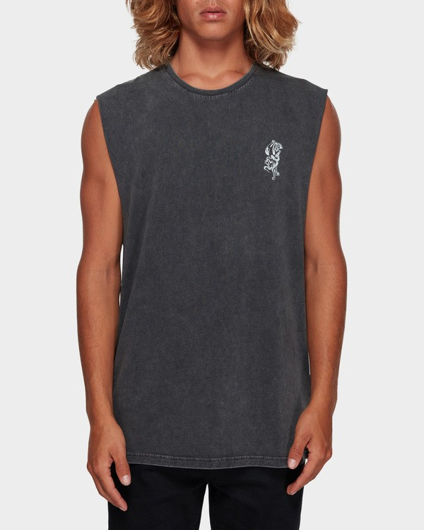 0 DONT PUMA ME MUSCLE TANK Black 9591508 Billabong