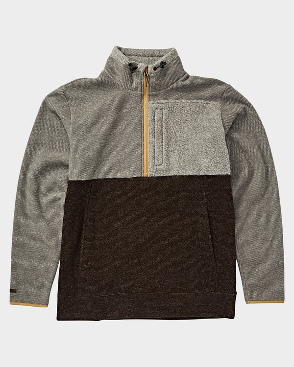 0 Boundary Mock Half Zip Jacket Grey 9591610X Billabong