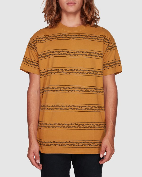 0 TUCKER STRIPE TEE Yellow 9592050M Billabong