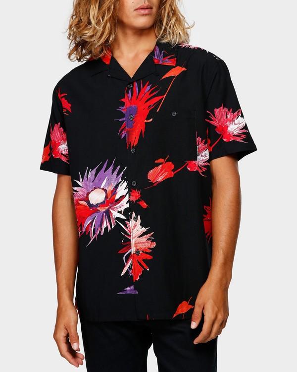 0 Vacay Print Short Sleeve Shirt Black 9592203 Billabong