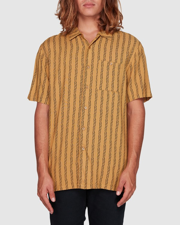 0 Tucker Vert Short Sleeve Shirt Yellow 9592220M Billabong