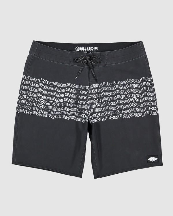 0 Wawaa Stripe Pro Boardshorts Black 9592491M Billabong
