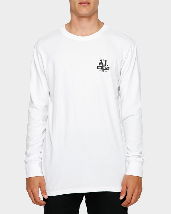 0 Andy Iron Stencil Long Sleeve Tee White 9595187 Billabong