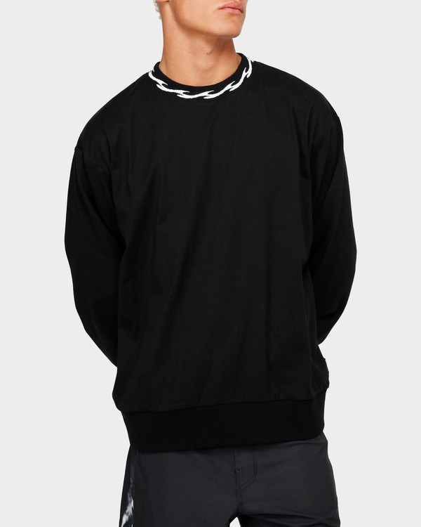 0 VIBES SOLID LONG SLEEVE CREW Black 9595194M Billabong