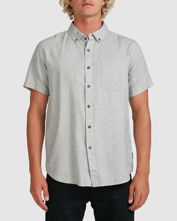 0 All Day Short Sleeve Shirt Grey 9595201 Billabong