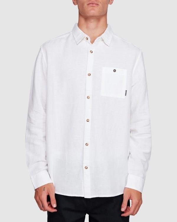 0 LINEN LONG SLEEVE SHIRT White 9595217 Billabong