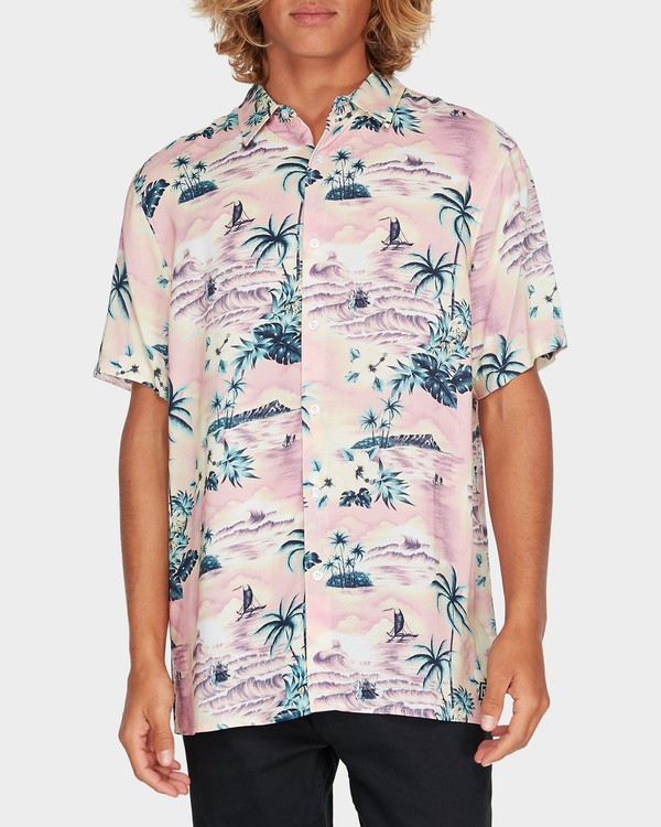 0 Sundays Party Short Sleeve Shirt Pink 9595218 Billabong
