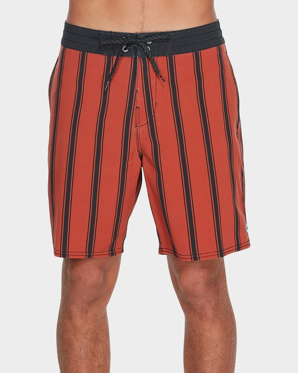 "0 SUNDAYS VERTICAL 18"" BOARDSHORT Red 9595408 Billabong"
