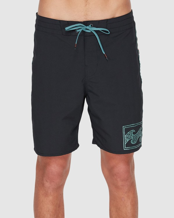 "0 ATLAS JACQUARD 19"" PRO BOARDSHORT Black 9595455 Billabong"