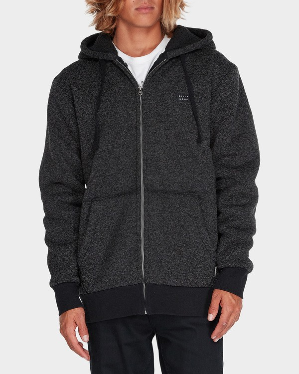 0 Revolt Zip Thru Hood Black 9595633 Billabong