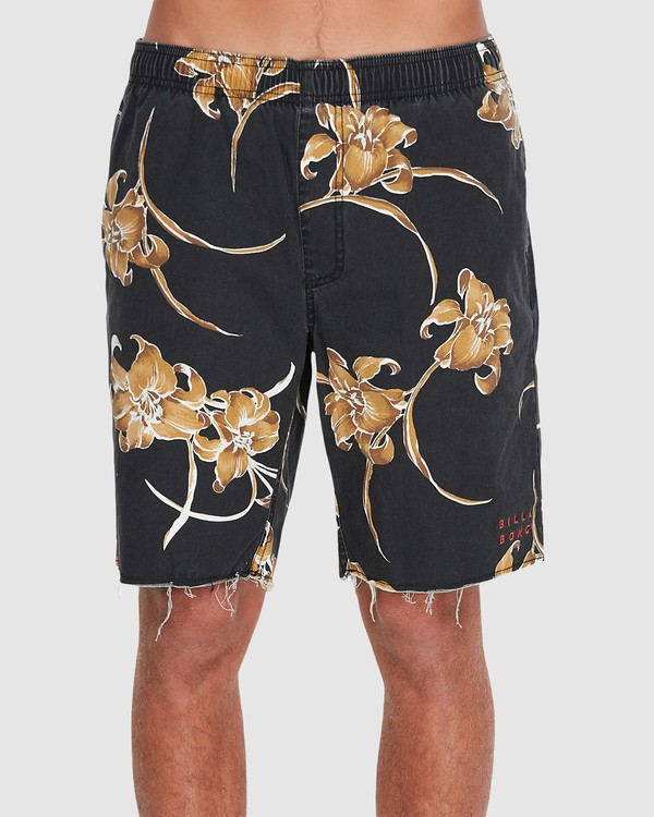 "0 SUNDAYS ELASTIC 17"" BOARDSHORT Black 9595702 Billabong"