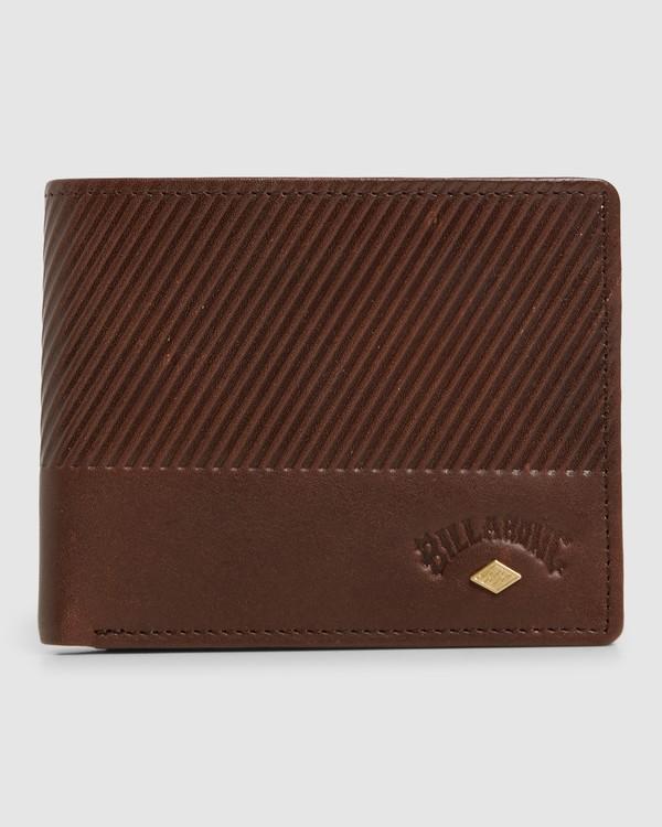 0 Helsman Rfid Flip Wallet Brown 9603184 Billabong