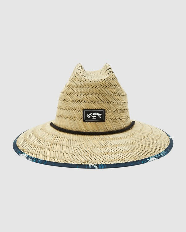 0 Tides Print Straw Hat Blue 9603327 Billabong
