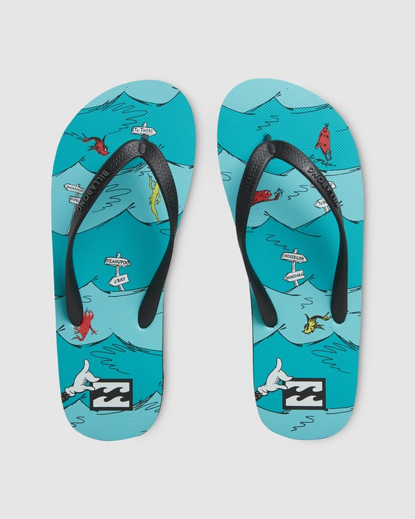 0 Dr. Seuss One Fish Two Fish Thongs  9603980 Billabong