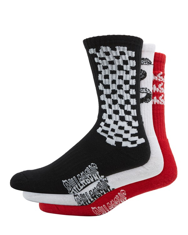 0 Multiplex Socks 3 Pack Socks  9608608 Billabong