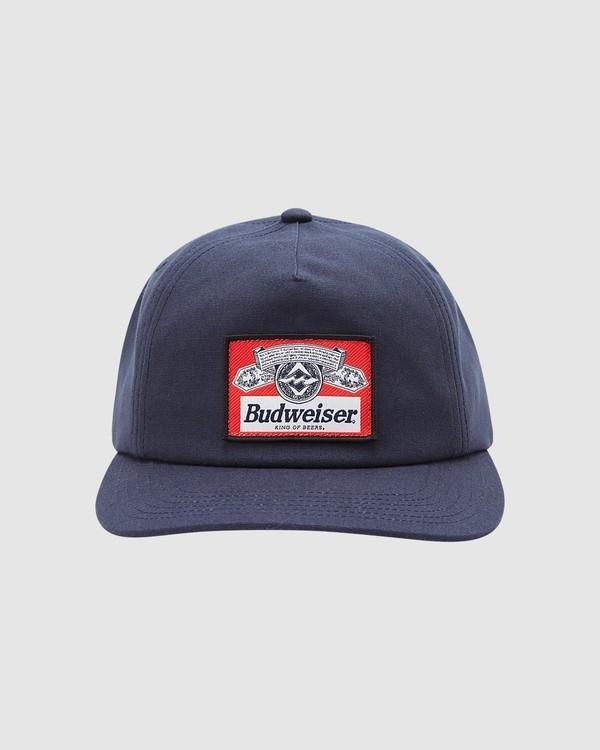 0 Budweiser Insignia Snapback Hat Blue 9613334 Billabong