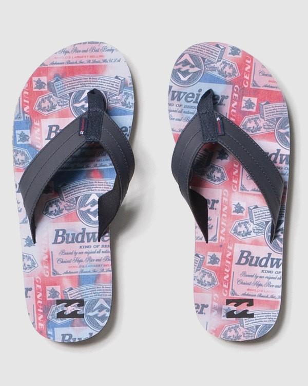 0 Budweiser Suds All Day Impact Sandal Red 9613938 Billabong